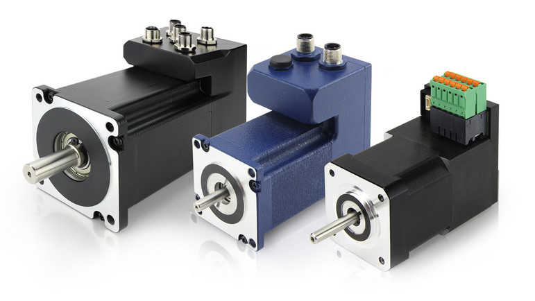 stepper motors with integrated controller and stepper motor drives