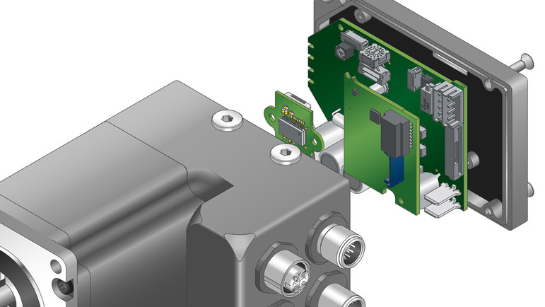 Integrated BLDC & Stepper Motors with Controller, Encoder