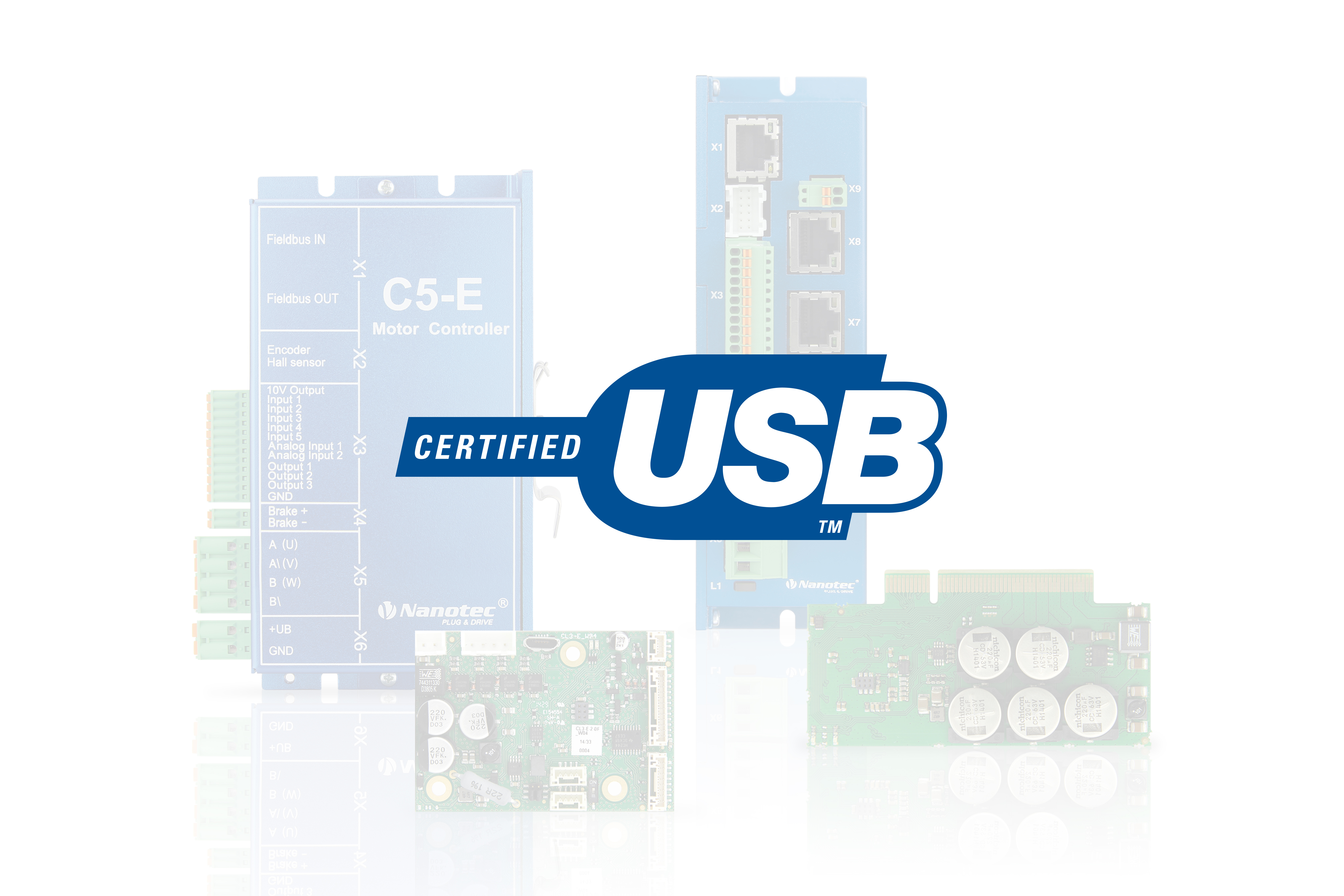 usb controller for bldc motor and stepper motor